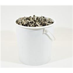 Bucket of  Nickel Plated .38 Special Brass