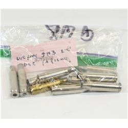 10 Pieces of 243 Winchester Brass