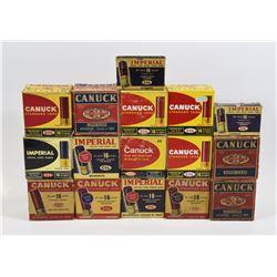 16 Empty Vintage Shotgun Ammunition Boxes