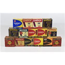 15 Empty Vintage Shotgun Ammunition Boxes