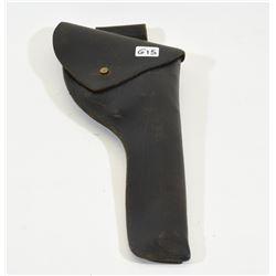 Vintage Black Leather Flap Holster