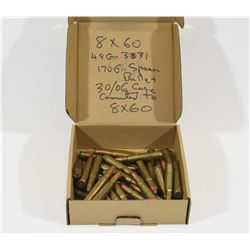 40 Rounds Reloaded 8 X 60 Mauser Ammunition