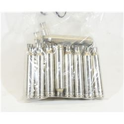 25 Pieces of  300 Win Mag Nickel Brass