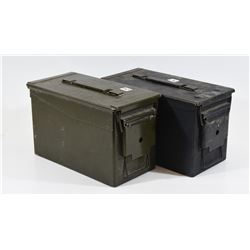 2 Green Ammo Cans and 2 Canvas Barrel Covers M8