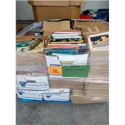 Contents of Large Tri-Wall Box: Books & Mixed Media