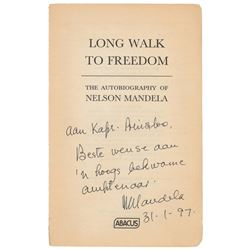 Nelson Mandela Signed Book Page