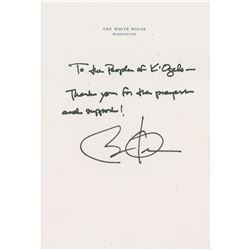 Barack Obama Autograph Note Signed