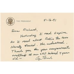 George Bush Autograph Letter Signed