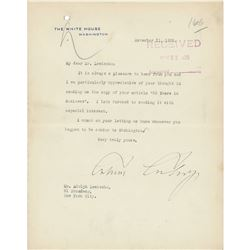 Calvin Coolidge Typed Letter Signed