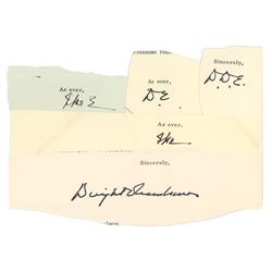 Dwight D. Eisenhower (5) Signatures