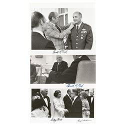 Gerald Ford, Betty Ford, and Harry A. Blackmun (3) Signed Photographs