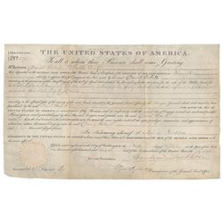 Andrew Jackson Document Signed