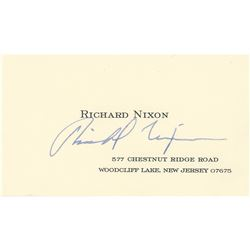 Richard Nixon Signed Calling Card