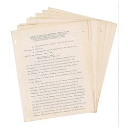Ronald Reagan Document Signed