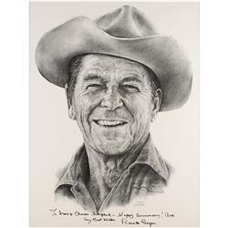 Ronald Reagan Signed Print