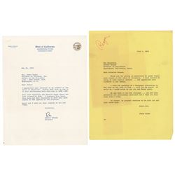 Ronald Reagan Typed Letter Signed