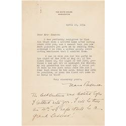 Eleanor Roosevelt Typed Letter Signed