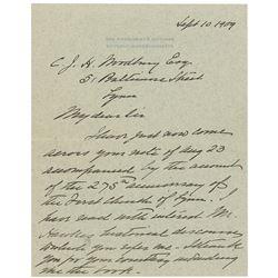 William H. Taft Autograph Letter Signed