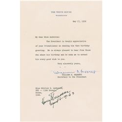 Harry S. Truman Signature