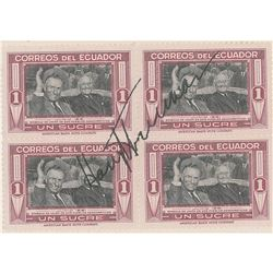 Harry S. Truman Signed Stamps