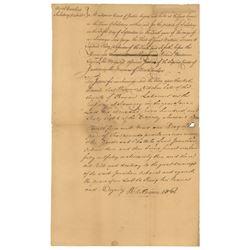 William Hooper Document Signed