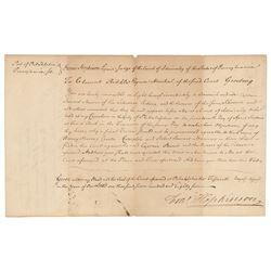 Francis Hopkinson Document Signed