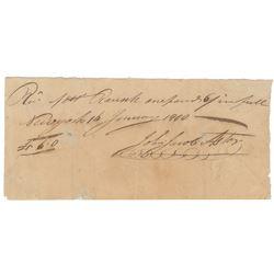 John Jacob Astor Autograph Document Signed