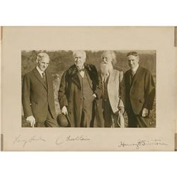 Thomas Edison, Henry Ford, and Harvey Firestone Signed Photograph