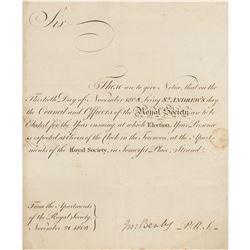 Joseph Banks Document Signed