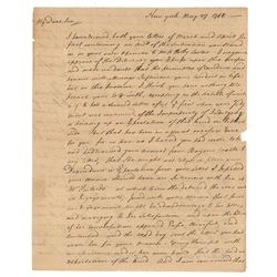 Samuel Bard: John Bard Autograph Letter Signed