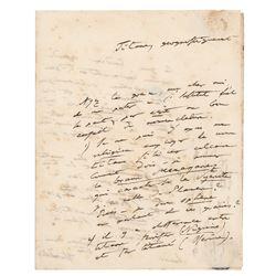 Alexander von Humboldt Autograph Letter Signed