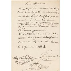 Rene Laennec Autograph Letter Signed