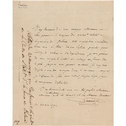 Antoine Lavoisier Autograph Letter Signed