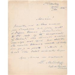 Dmitri Mendeleev Autograph Letter Signed