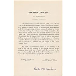 Robert Oppenheimer Signed Program