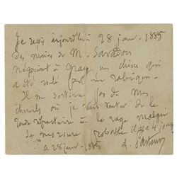 Louis Pasteur Autograph Letter Signed