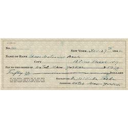 Nikola Tesla Twice-Signed Check