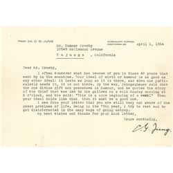 Carl Jung Typed Letter Signed