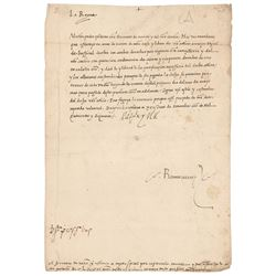 Germaine of Foix Document Signed