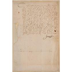 King James I Document Signed