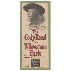 William F. 'Buffalo Bill' Cody Signed Travel Brochure
