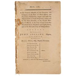 Rhode Island: Native American Acts Document