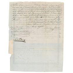 Texas: Mirabeau B. Lamar and Anson Jones (2) Documents Signed
