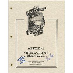 Apple: Steve Wozniak and Ronald Wayne Signed Manual