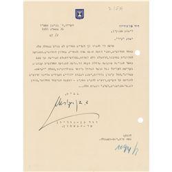 David Ben-Gurion Typed Letter Signed