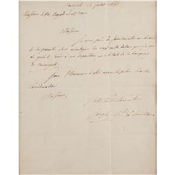 Joseph Bonaparte Autograph Letter Signed