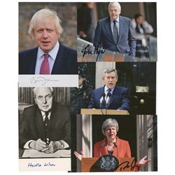 British Prime Ministers (5) Signed Photographs