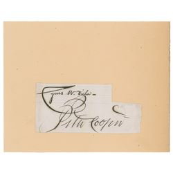 Peter Cooper and Cyrus W. Field Signatures