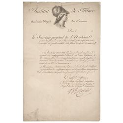 Georges Cuvier Document Signed