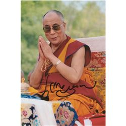 Dalai Lama Signed Photograph